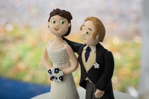 Wedding Cake Mr & Mrs topper photo